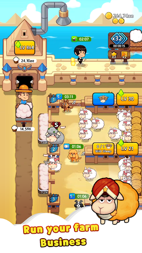 Sheep Farm : Idle Games & Tycoon screenshots 4