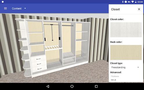 Closet Planner 3D 2.7.1 Screenshots 8