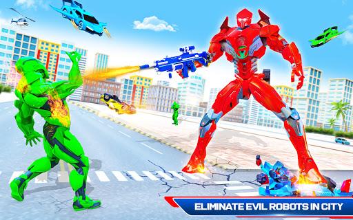 Robot Shark Attack: Transform Robot Shark Games apkpoly screenshots 10