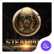 Golden SteamPunk - APUS Launcher  theme