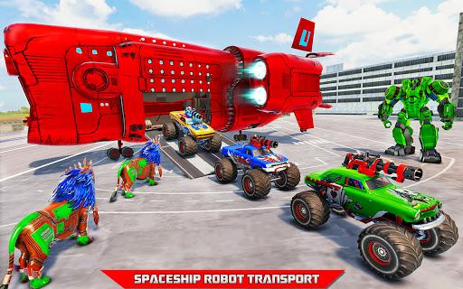Space Robot Transport Games - Lion Robot Car Game screenshots 3