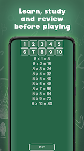 Times tables free for kids (multiplication table)