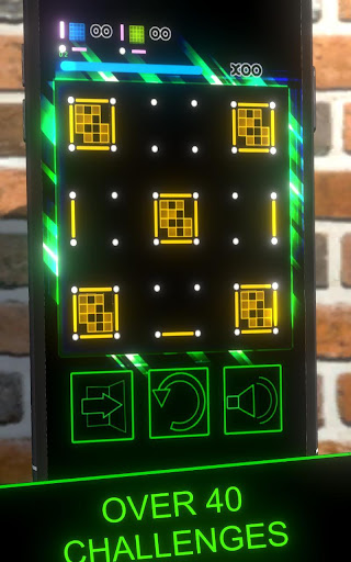 Dots and Boxes (Neon) 80s Style Cyber Game Squares apkdebit screenshots 4