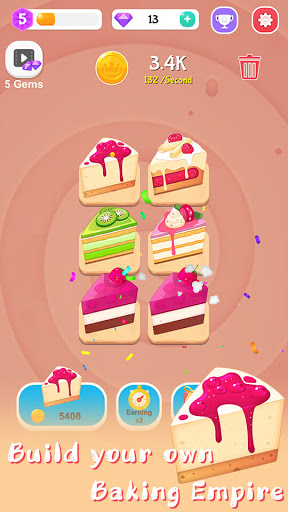 Merge Cake Mania - idle baking tycoon  screenshots 1