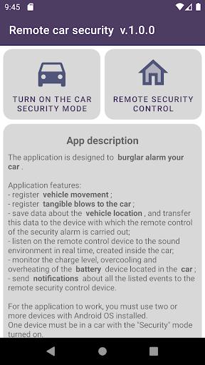 Remote car security screenshot 1