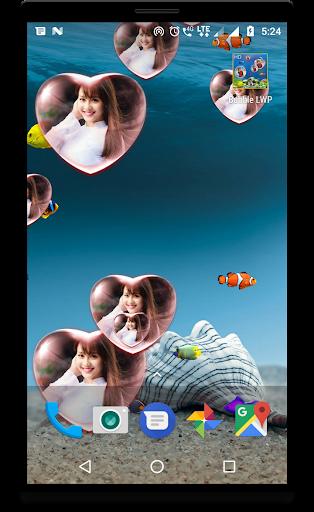 Bubble photo live wallpaper with aquarium 1.5 screenshots 2