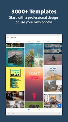 Adobe Spark Post: Graphic Design & Story Templates  screenshots 23