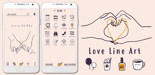 Cute Wallpaper Love Line Art Theme Versi 1.0.1