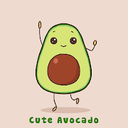 Simple Wallpaper Cute Avocado Theme