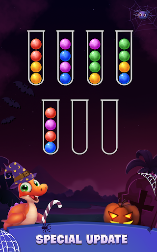 Color Ball Sort Puzzle - Dino Bubble Sorting Game  screenshots 16