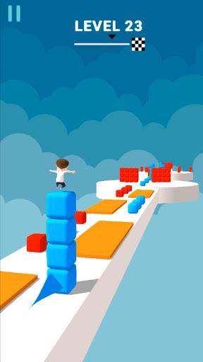 Cube Stacker Surfer 3D - Run Free Cube Jumper Game  screenshots 16