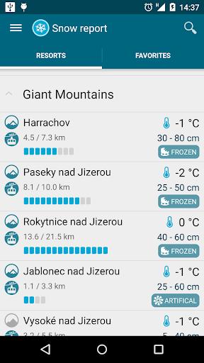 Meteor (Weather) u00bb Snow report  Screenshots 1