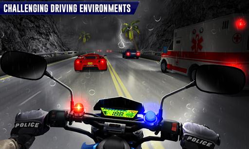 Police Moto Bike Highway Rider Traffic Racing Game  Screenshots 2