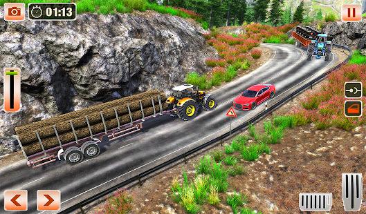 Cargo Tractor Trolley Driving - Tractor Games 2021 1 screenshots 1