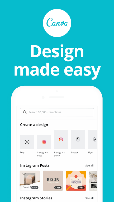 Canva: Graphic Design, Video Collage, Logo Maker poster 0
