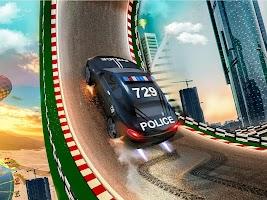 Police Ramp Car Jumping Extreme City GT Car Racing