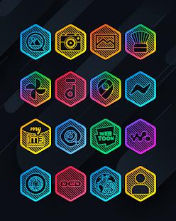 Lines Hexa - Neon Icon Pack - Screenshot 3