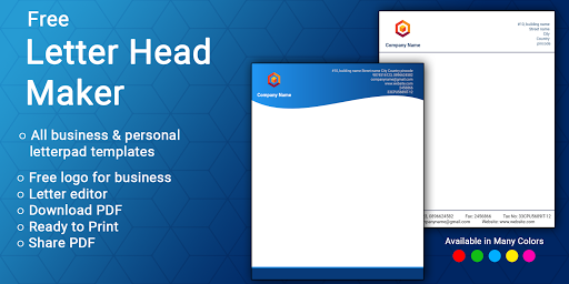 Letterhead Maker Business letter pad template Logo 1.7 Screenshots 1