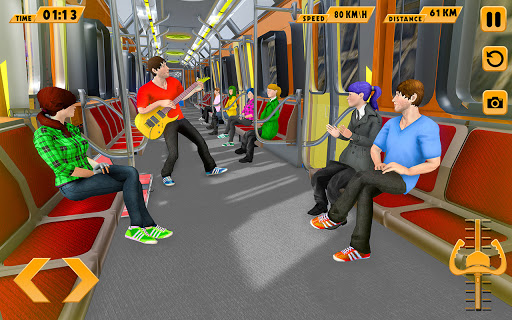 Modern Train Driving Simulator: City Train Games  screenshots 12