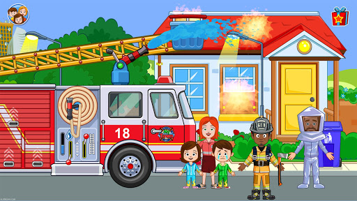 Fireman, Fire Station & Fire Truck Game for KIDS android2mod screenshots 6