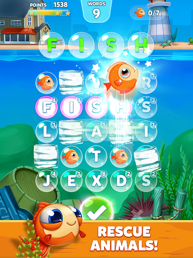 Bubble Words - Word Games Puzzle 1.4.0 Screenshots 8