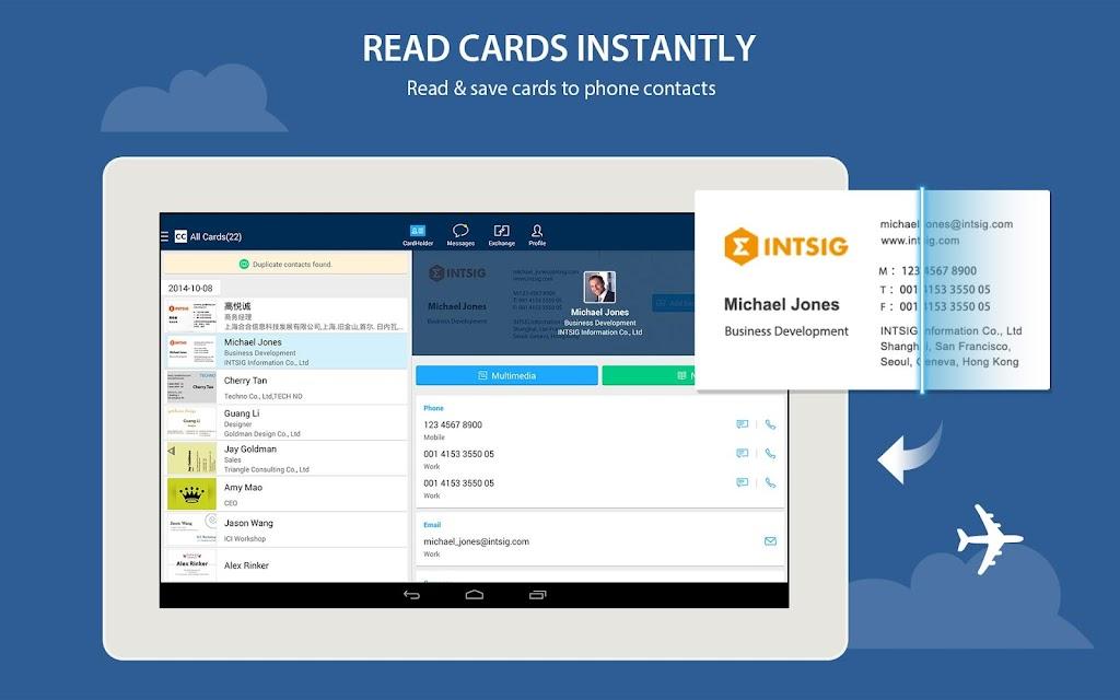 CamCard - Business Card Reader  poster 5