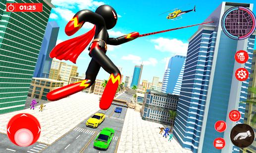 Real Police Stickman Rope Hero 18 Screenshots 1