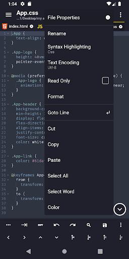 Acode - powerful code editor screen 1