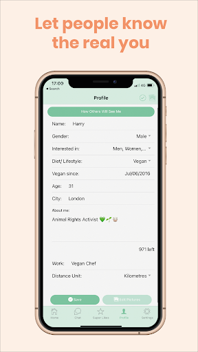 Veggly u2013 Vegan and Vegetarian Dating apktram screenshots 4
