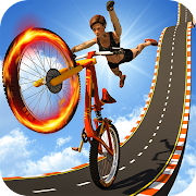 BMX Cycle Mega Ramp Stunts - Bicycle Racing Games