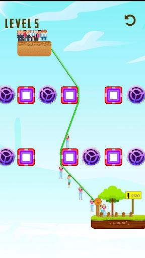 rope line rescue - zip line rope screenshot 1