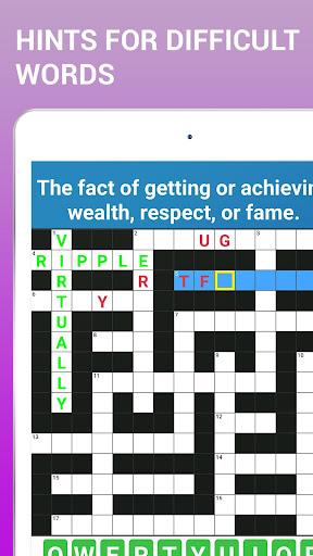 Crossword Puzzle Free Classic Word Game Offline 3.8 screenshots 11