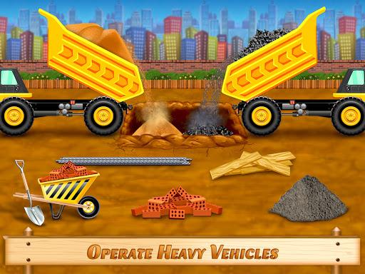 City Construction Vehicles - House Building Games  screenshots 1