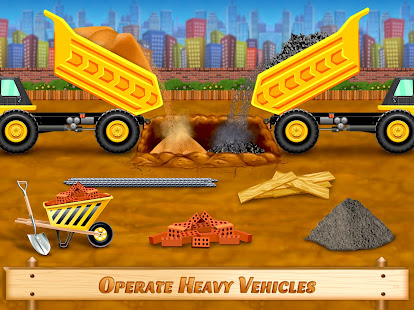 city construction vehicles - house building games hack