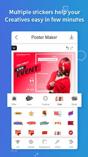 Poster Maker, Flyers, Banner, Logo Ads Page Design  Screenshots 7