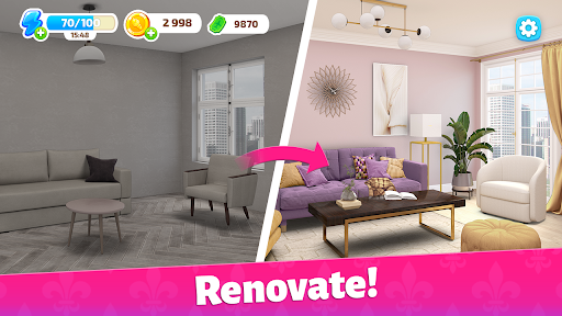 Color Home Design Makeover - paint your love story  screenshots 2