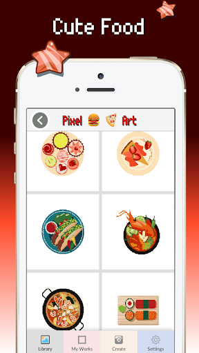 Food color by number : Pixel art coloring 1.5 screenshots 2