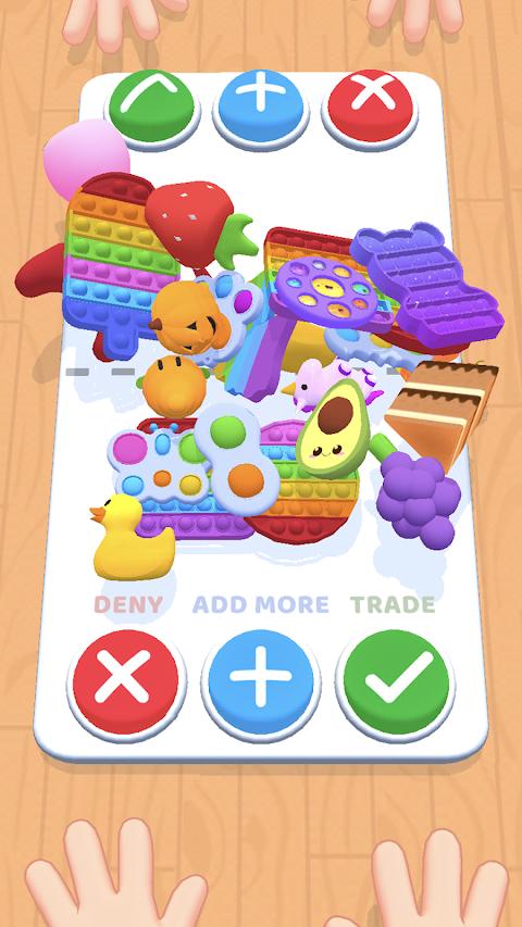 プッシュポップバブル交換ゲーム ポップイットトレードのおすすめ画像1