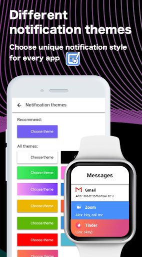 SmartWatch sync app for android&Bluetooth notifier  Screenshots 1