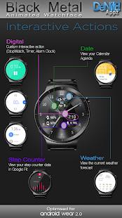 Black Metal HD Watch Face Widget & Live Wallpaper