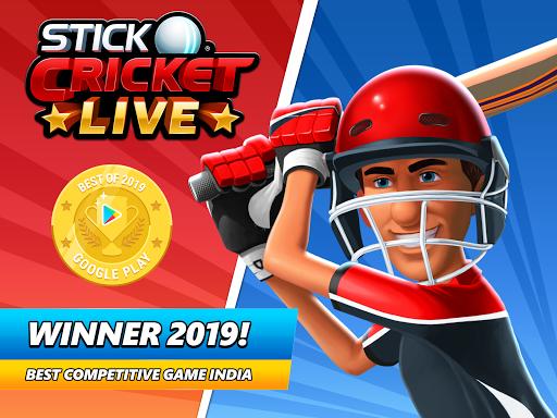 Stick Cricket Live 21 - Play 1v1 Cricket Games Apkfinish screenshots 24