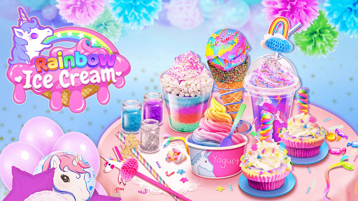 Rainbow Ice Cream - Unicorn Party Food Maker screenshots 1