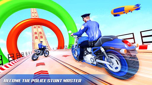 Police Bike Stunt Games: Mega Ramp Stunts Game 1.1.0 screenshots 12