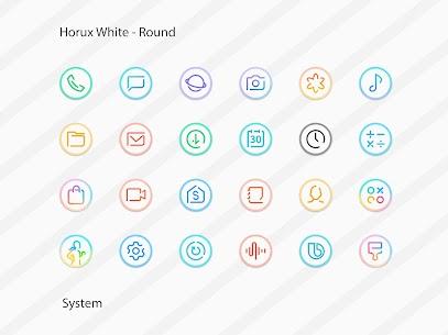 Horux White Apk- Round Icon Pack (Paid) 8