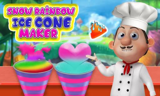 Snow Rainbow Ice Cone Maker: Icy Candy fun 1.0.9 screenshots 4