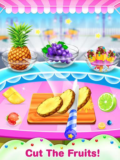 Unicorn icy slush maker-frozen food game screenshots 2