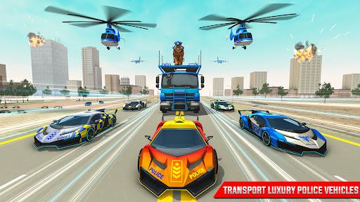 US Police Tiger Robot Car Game screenshots 11