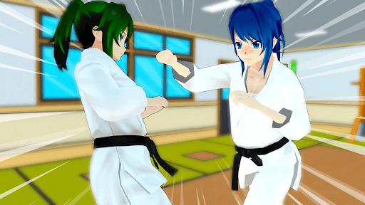 Anime High School Girl 3D Life - Yandere & Sakura apkpoly screenshots 1