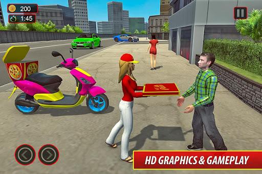 Moto Bike Pizza Delivery u2013 Girl Food Game 1.0 screenshots 9