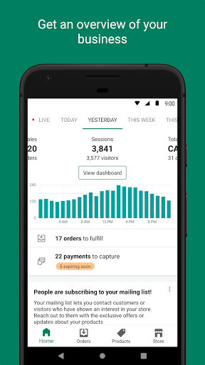 Shopify - Your Ecommerce Store 9.20.0 APK screenshots 1